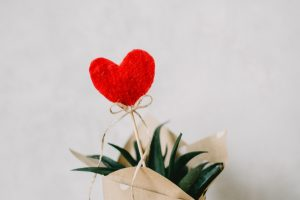 red heart ornament and aloe vera plant covered with paper 873083 300x200 - Walentynkowa kolacja – co ubrać?